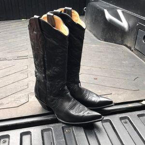 Corral black cowboy boots size 10